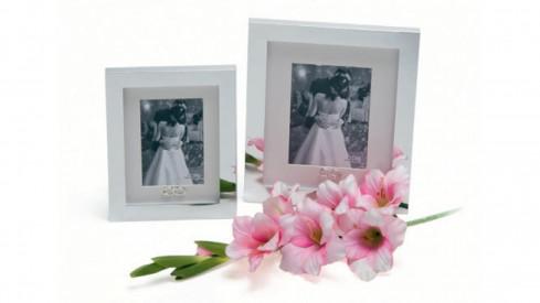WEDDING RING 13x18 Stříbrný  svatební fotorámeček