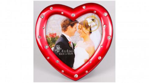 Svatební fotorámeček LOVE COUPLE 10x10 červený