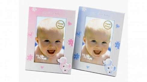 Dětský fotorámeček 10x15 BABY FLOWERS modrá