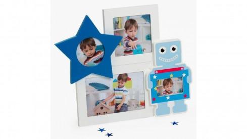 Dětský fotorámeček na více foto BABY Gal modrý