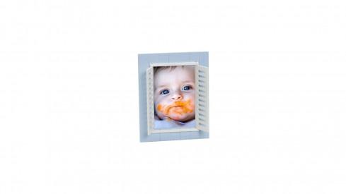 Dětský fotorámeček BABY WINDOW 13x18 modrá