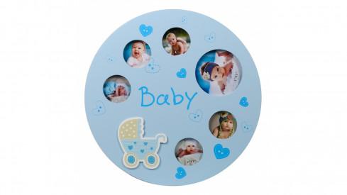 Dětský fotorámeček na více foto ALLROUND modrý