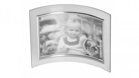 Skleněný fotorámeček VERONA 15x10 stříbrný