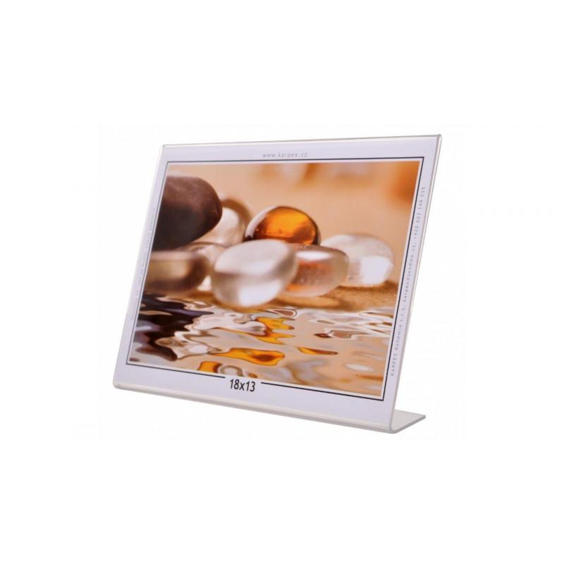 Akrylový fotorámeček KARPEX 18x13cm šířka