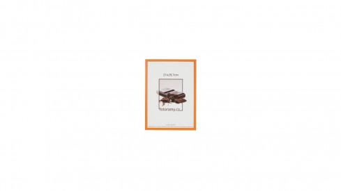 Dřevěný fotorámeček DR0C1K 9x13 C6 oranžový