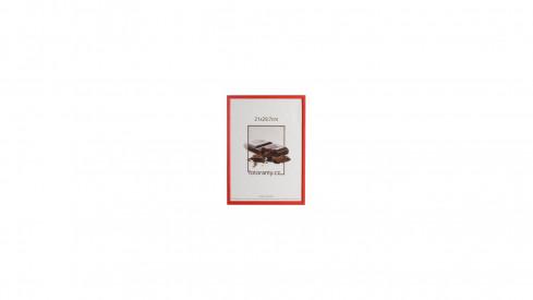 Dřevěný fotorámeček DR0C1K 9x13 C8 červený