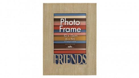 Dřevěný fotorámeček 10x15 s vyřezávaným detailem Friends