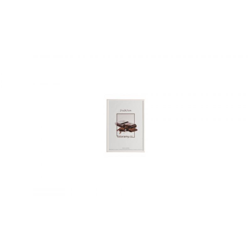 Dřevěný fotorámeček DR0C1K 21x29,7 A4 C11 bílý