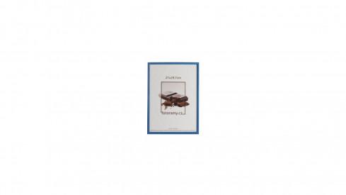Dřevěný fotorámeček DR0C1K 21x29,7 A4 C2 tmavě modrý