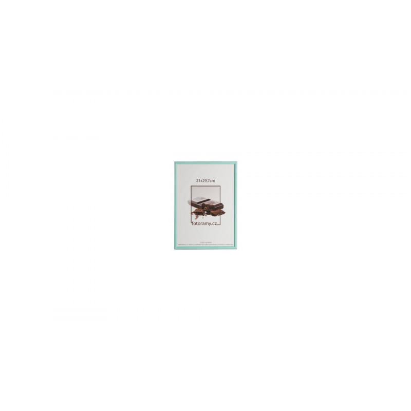 Dřevěný fotorámeček DR0C1K 21x29,7 A4 C9 tyrkysový