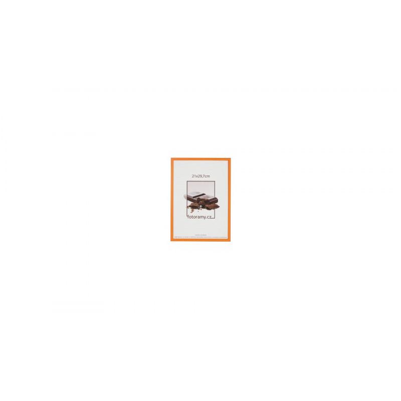 Dřevěný fotorámeček DR0C1K 30x40 C6 oranžový