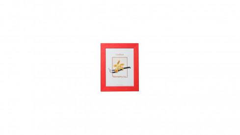 Dřevěný fotorámeček DRC11K 10x15 C8 červený