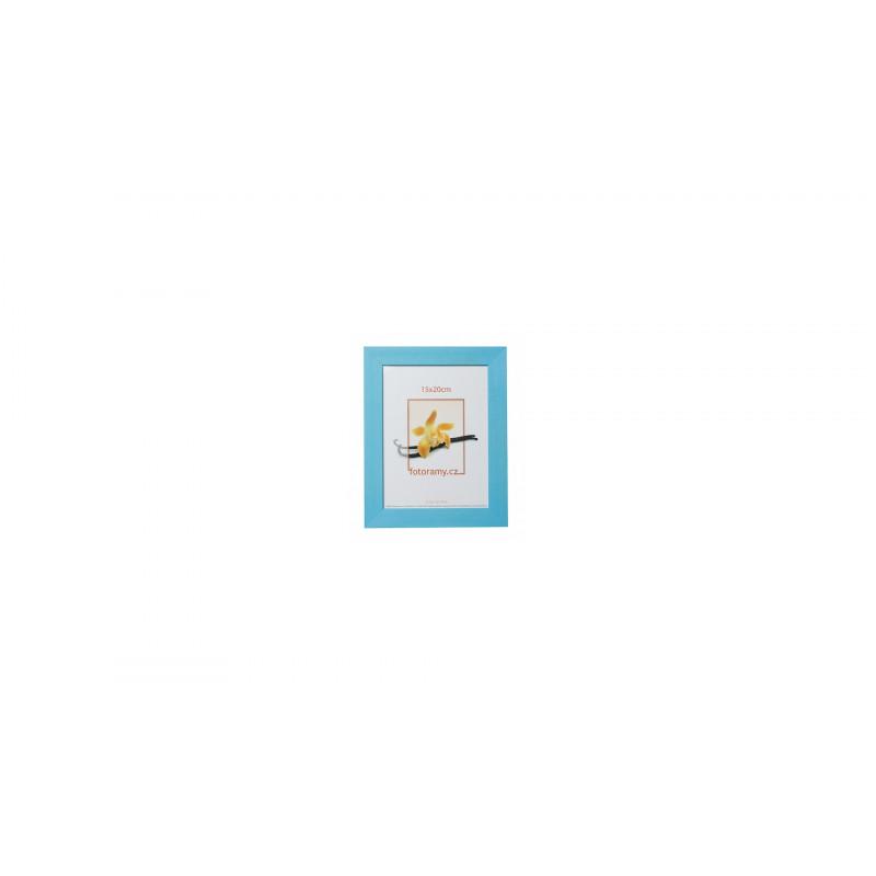 Dřevěný fotorámeček DRC11K 15x21 A5 C4 světle modrý