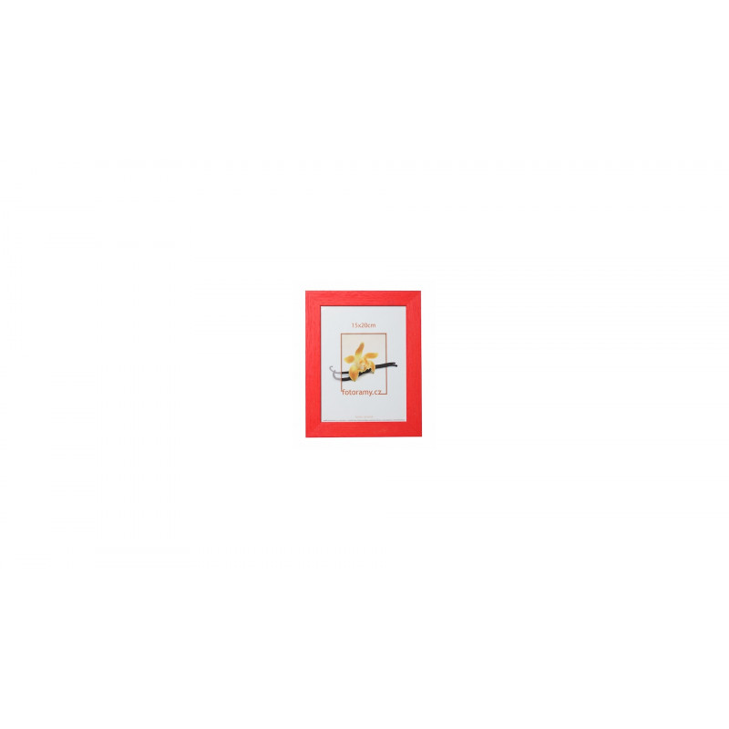 Dřevěný fotorámeček DRC11K 15x21 A5 C8 červený