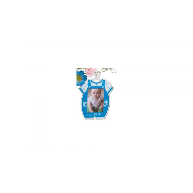 Akrylový minirámeček 4x5cm modrý