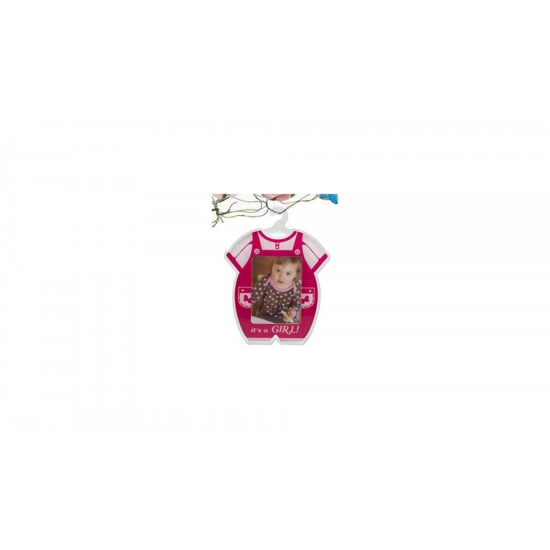 Akrylový minirámeček 4x5cm růžový PLAYSUIT