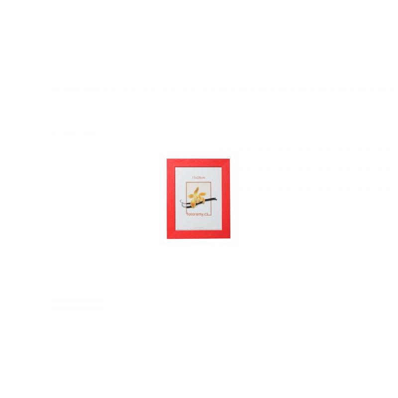 Dřevěný fotorámeček DRC11K 18x24 C8 červený