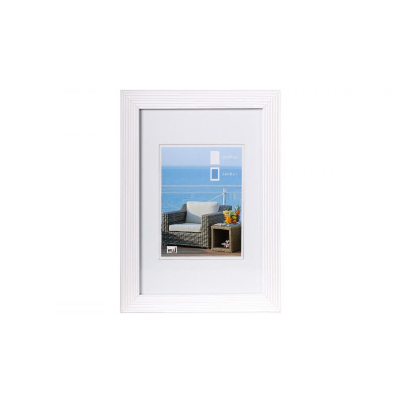 Dřevěný fotorámeček HR-23 30x40 bílý