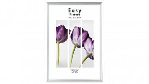 Stříbrný plastový fotorámeček 21x29,7cm/A4 EASY Frame