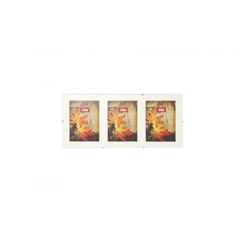 Skleněný Clip Fix rámeček galerie 3foto 13x18