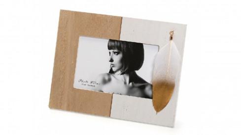 Dřevěný fotorámeček 15x10 NATURE FEATHER