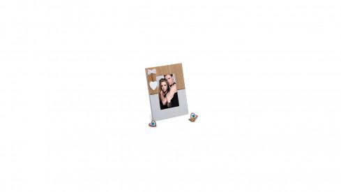 Dřevěný fotorámeček 10x15 LOVE PORTRAIT