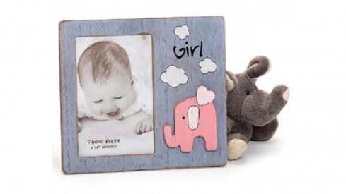 Dětský dřevěný fotorámeček 10x15 BABYFANT růžový