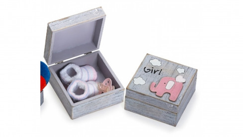 Dětská krabička na drobné upomínky růžová
