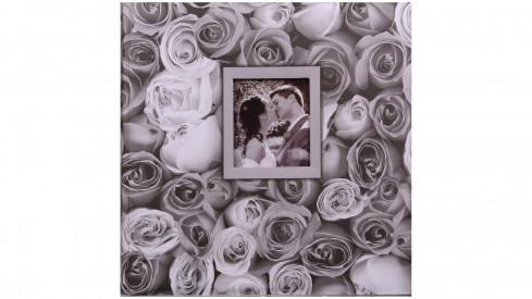 Fotoalbum na růžky 30x30/100s. ANYWHERE ROSES šedé