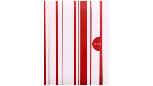 Fotoalbum 10x15/100 foto COLOR STRIPES červené