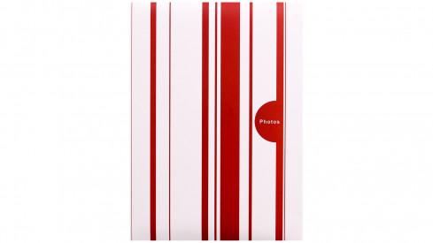 Fotoalbum 10x15/200 foto pop. COLOR STRIPES červené