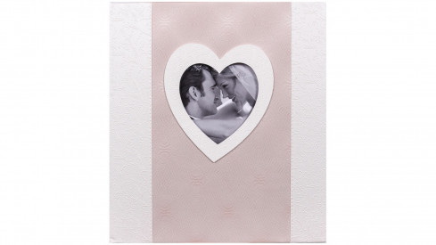 Svatební fotoalbum na růžky POESIE 29x32/60s. tmavé