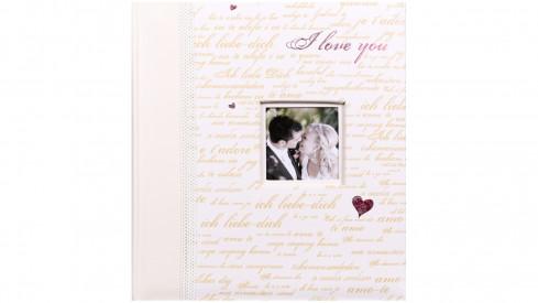 Svatební fotoalbum na růžky 29x32/60s. MODERN LOVE zlatý text