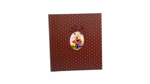 Dětské fotoalbum na růžky YOUNG CHILD 29x32/60s. hnědé