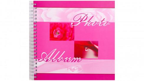 Spirálové fotoalbum na růžky SUMMER BREEZE  40 stran 30x30 růžové