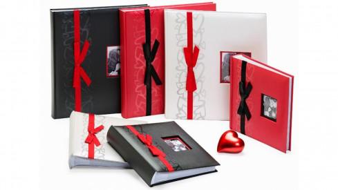 Svatební fotoalbum 10x15/200 červené GENTLE LOVE