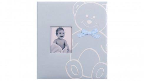 Dětské fotoalbum na růžky NEW BABY BEAR modré