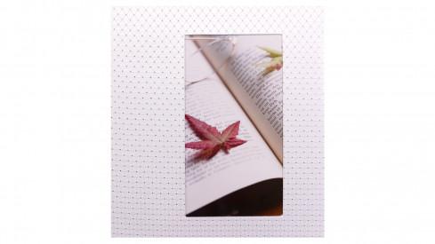 Svatební fotoalbum na růžky 29x32/60s. DIAMOND bílé