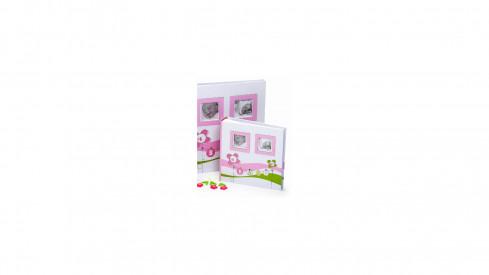 Dětské fotoalbum na růžky LUCKY BABY 29x32/60 růžové