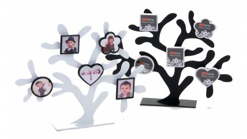 Bílý FAMILY fotostrom na 5 fotografií