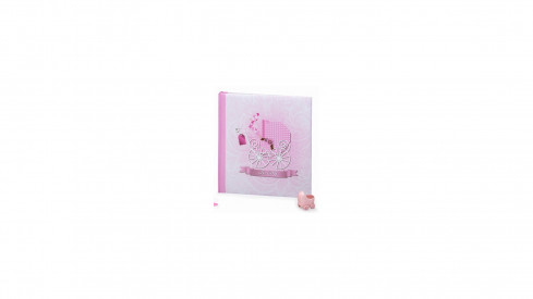 Dětské fotoalbum na růžky BABY MOVE 29x32/60s. růžové