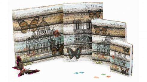 Fotoalbum na růžky 30x30/100 stran NATURE STYLE proužky