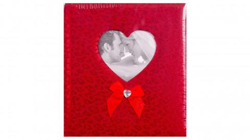 Svatební fotoalbum na růžky HAPPY END 29x32/60s. červené