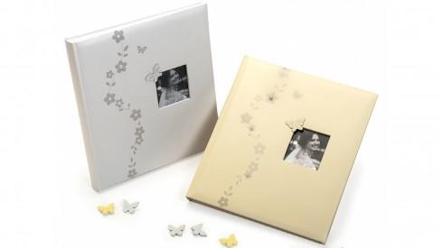 Svatební fotoalbum na růžky ELLE bílé