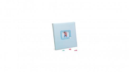 Dětské fotoalbum na růžky  BABY´S LAUGH 29x32/60 modré