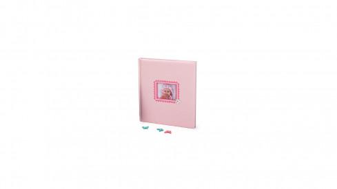 Dětské fotoalbum na růžky  BABY´S LAUGH 29x32/60 růžové