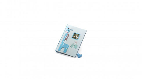 Dětské fotoalbum 10x15/300 foto s pop. BABY GIRAFFE modré