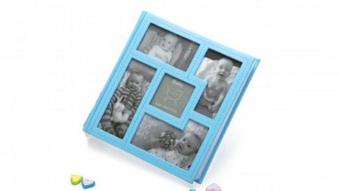 Dětské zastrkávací fotoalbum 10x15/200 foto BABY´s VISION modré