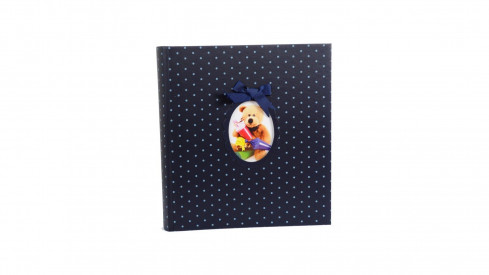 Dětské fotoalbum na růžky YOUNG CHILD 29x32/60s. modré