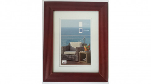 Dřevěný fotorámeček HR-23 15x20 mahagon
